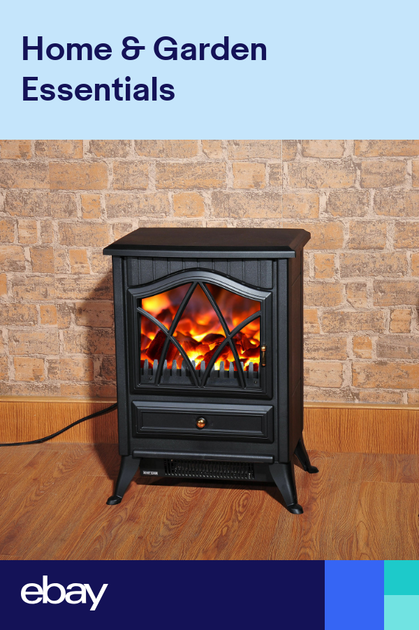 Fireplace Log Burning Flame Effect Electric Stove Standing Fan Heater 1000 2000w Free Standing Electric Fireplace Electric Fires Electric Fireplace