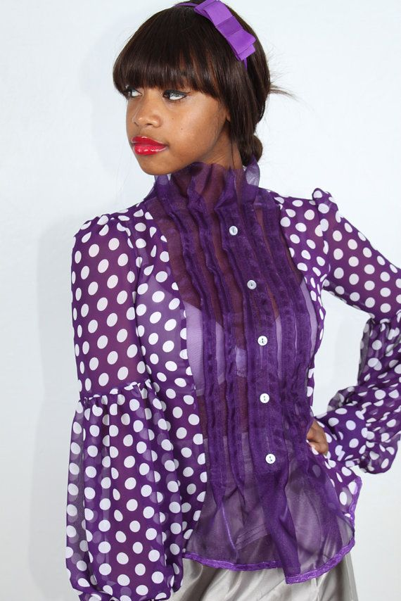 Asia Blouse Polka Dot by courtneysamone on Etsy, $65.00