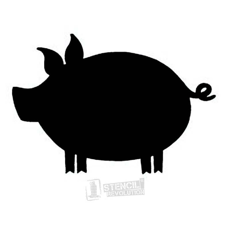 Pig Stencil Templates Patterns Stencils Sewing Animal Silhouette