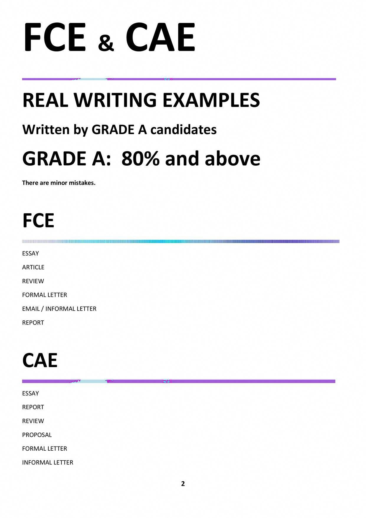 Fce Cae Real Writing Examples Resumewritingexamples Resume