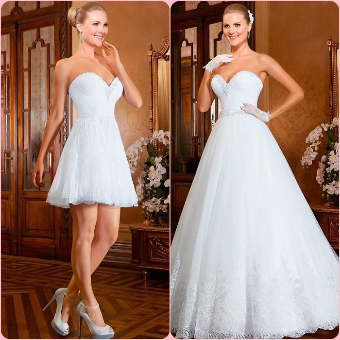 A-Line Sweetheart Appliqued Lace Wedding Dress Floor Length Hot Sale Summer Sexy Teo Pieces Briadl Gown with Long Train BXH013 Online with $167.86/Piece on Idodress's Store | DHgate.com