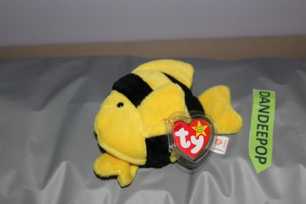 TY Retired Beanie Baby Bubbles Fish 4078 1995  Ty  Beanie  beaniebaby   beaniebabie  bubbles  fish  dandeepop find me at dandeepop.com 2c6f32f22b2e