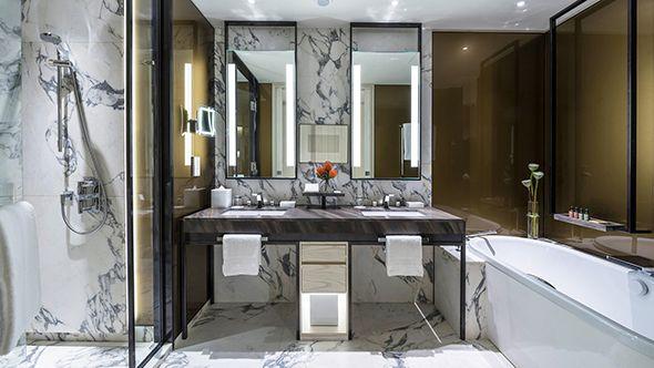 Heerim Architects Planners Ltw Designworks Andre Fu Avroko Collaborate For Four Seasons Hote Luxury Hotel Bathroom Rustic Bathroom Remodel Restroom Design Luxury hotel bathroom in jakarta