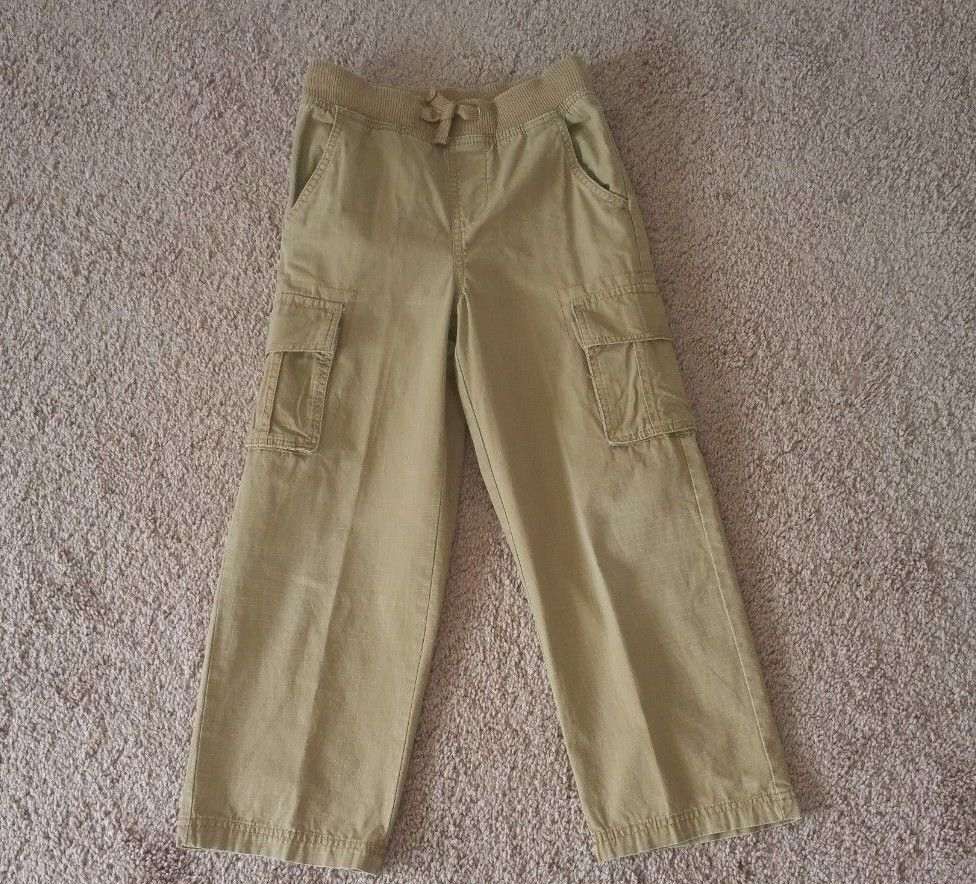 c1e9daf66 Details about Boy's Cargo Pants Size S (6/7) Youth Khaki Elastic ...