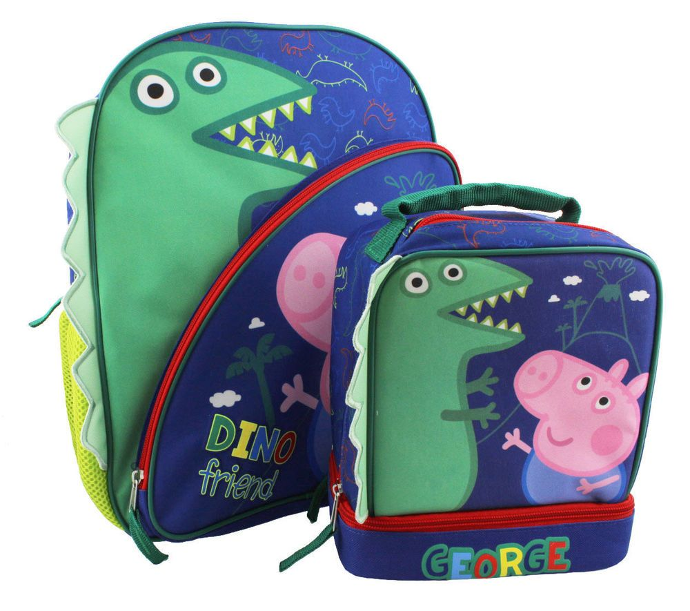Peppa Pig George Backpack and Lunch Bag Set Kit 15 inch Boys  Nickelodeon   BackpackLunchBoxSet d62bd3a706c6b