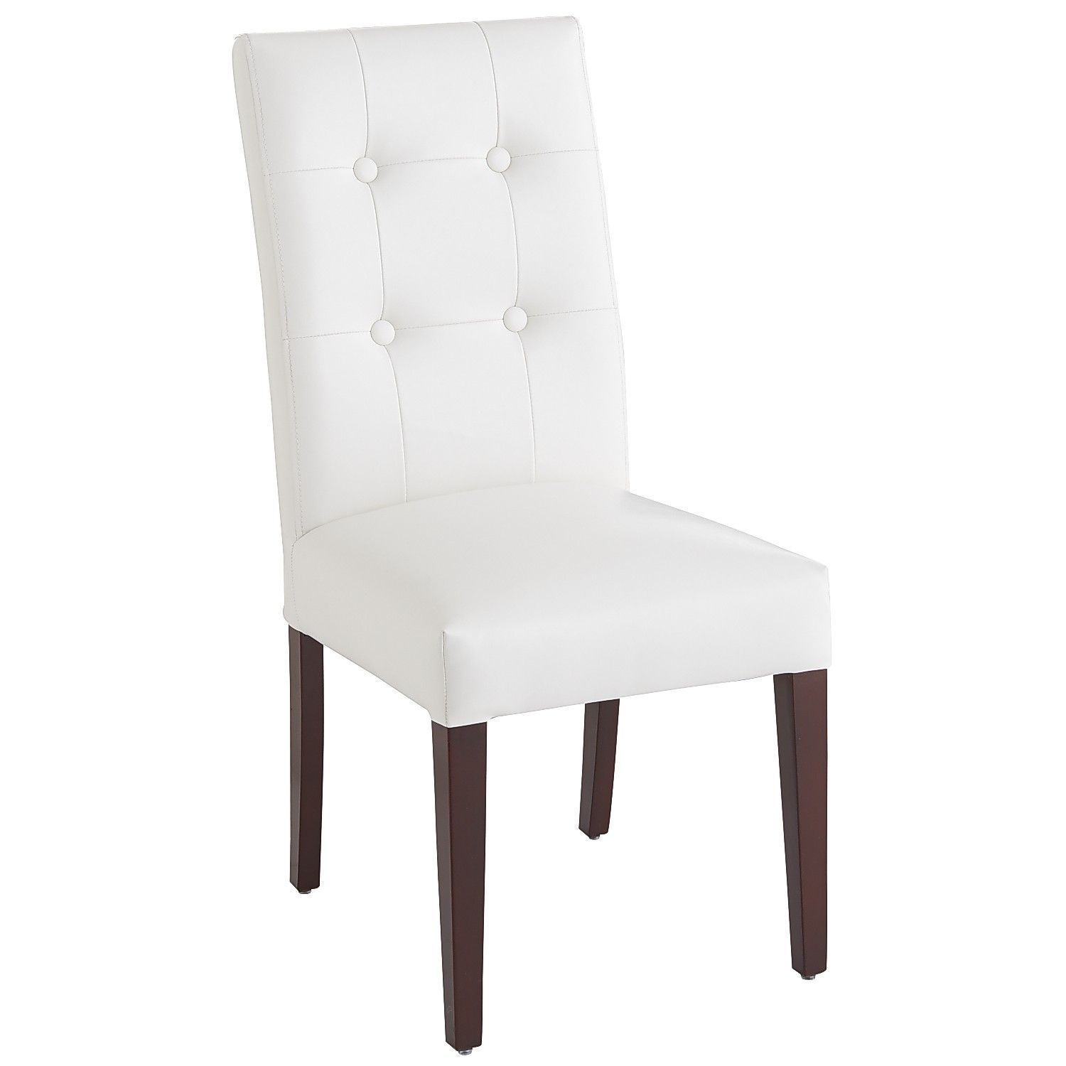 White foam dining chair