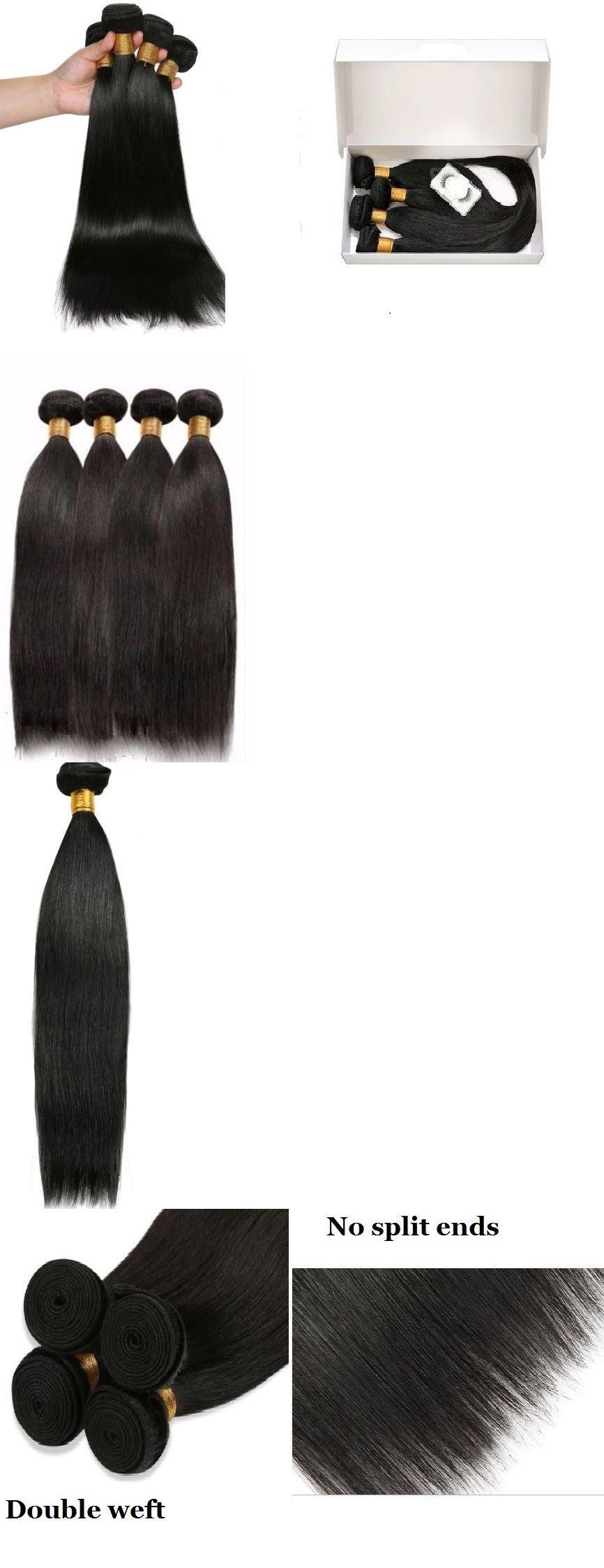 Hair Extensions 100 Virgin Human Hair Unprocessed Brazilian