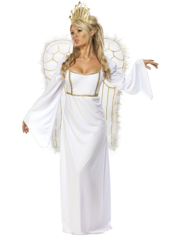 Adulte Femmes Noël Angel Ailes Déguisement Noël tenue de Fête Costume Ailes
