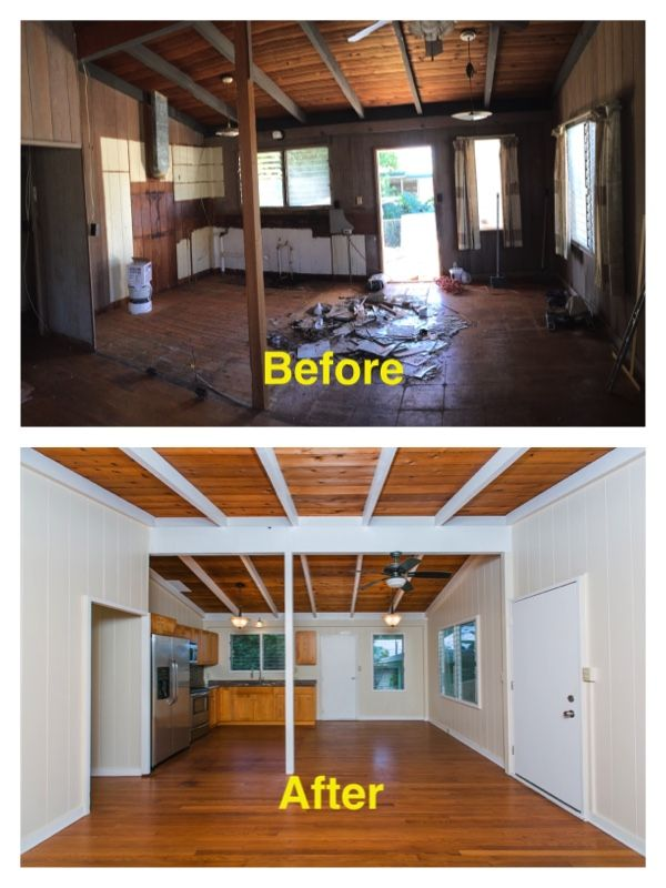Hawaii House-Flipping: BEFORE & AFTER