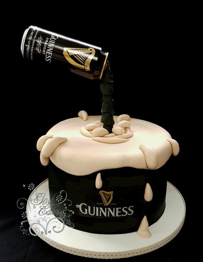 Cool Guiness Gravity Defying Cake By Goshcakes Guiness Cake Birthday Cards Printable Benkemecafe Filternl