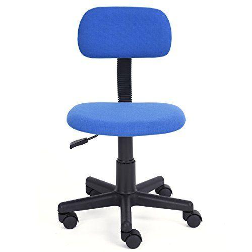 FurnitureR Teens Mesh Armless Computer Desk Chair Ergonom... Https://www