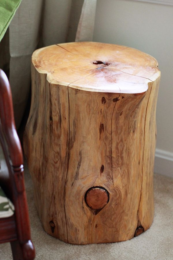 Tree Stump Side Table Or Stools For Extra Seating A
