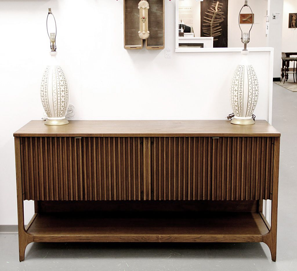 """Broyhill Brasilia - Credenza Buffet Model 6140-13 Dimensions: 60"""" x 19"""" x 31"""" Another Mid Century Modern Credenza from Broyhill Brasilia. one has a slightly different look from many of the typical Broyhill Brasilia pieces, but it still looks great."""