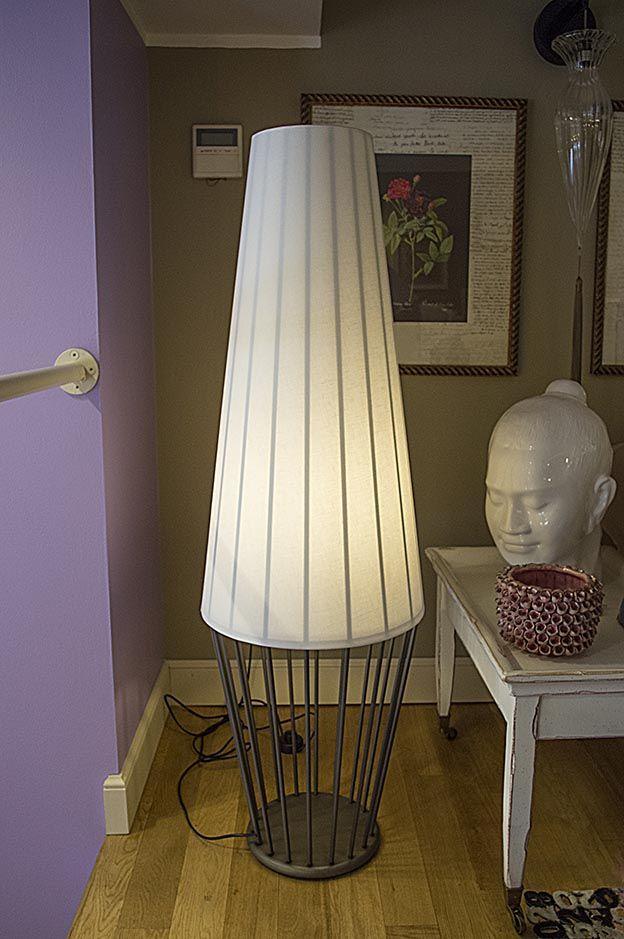 Lampada da terra metallo e tessuto cantori for Lampade arredo casa