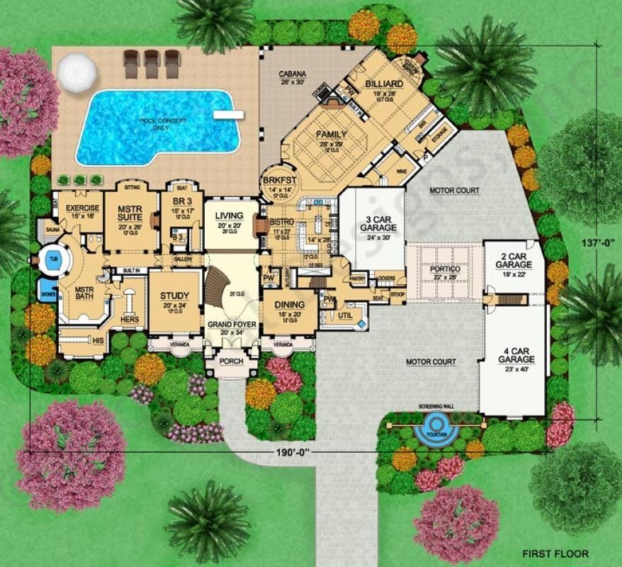 Versailles mansion floor plans luxury floor plans for Versailles house floor plan