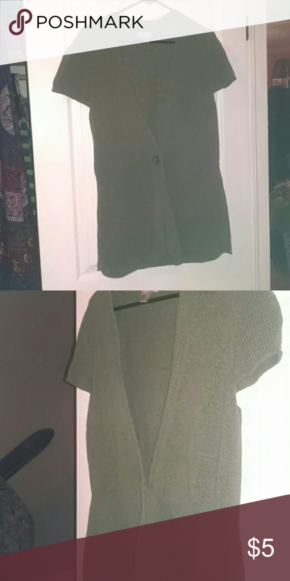 Sweater vest Olive green cardigan style on button vest Sweaters Cardigans