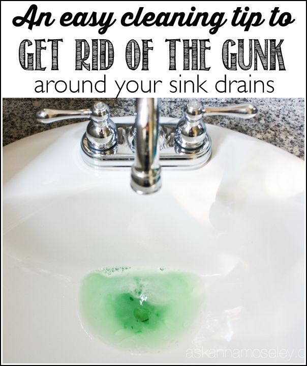 How To Clean The Gunk Around The Sink Drain Sink Drain Sinks And - Clean bathroom sink drain smells