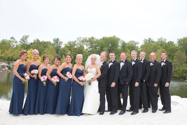 Wedding Party - Navy Blue | Rose Wedding | Pinterest | Navy blue ...