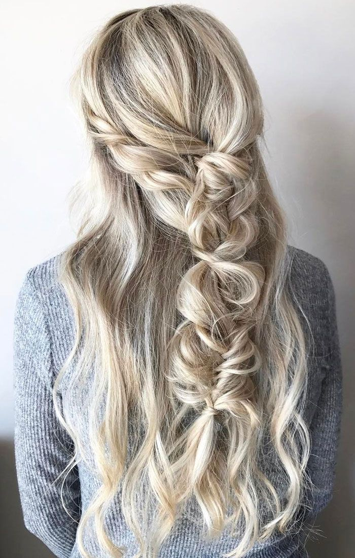 Half up half down braid hairstyle inspiration