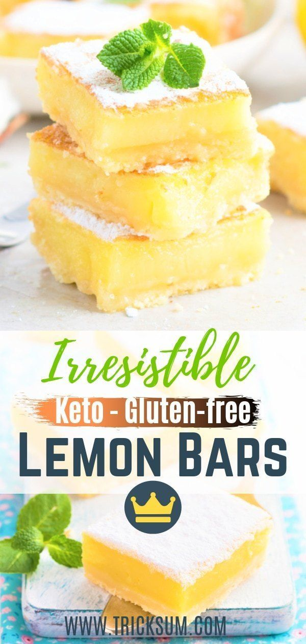 Irresistible keto Lemon Bars [KETO - GLUTEN-FREE]
