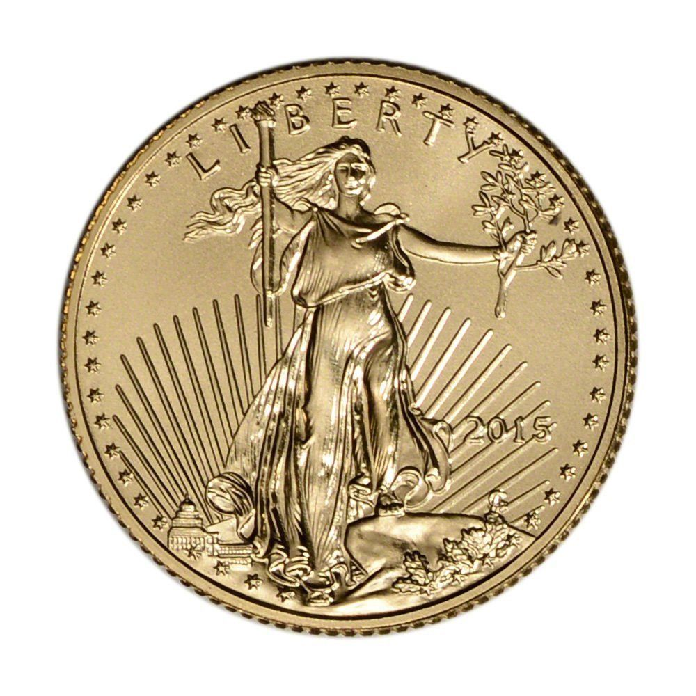 2015 American Gold Eagle 5 Bu U S Mint Coin Art Gold Bullion Coins Gold Coins