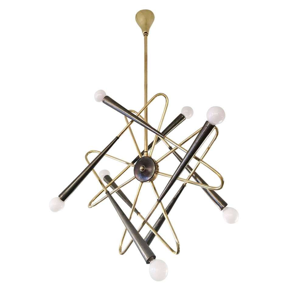 Whimsical sputnik chandelier attributed to stilnovo italy 1960s whimsical sputnik chandelier attributed to stilnovo italy 1960s 1 mozeypictures Images