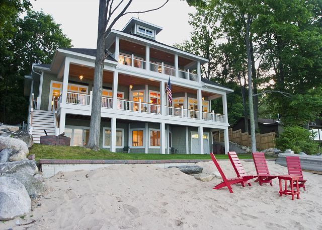 House Vacation Rental In Traverse City From Vrbo Com Vacation Rental Travel Vrbo Vacation Home Rentals Luxury Beach House City Vacation