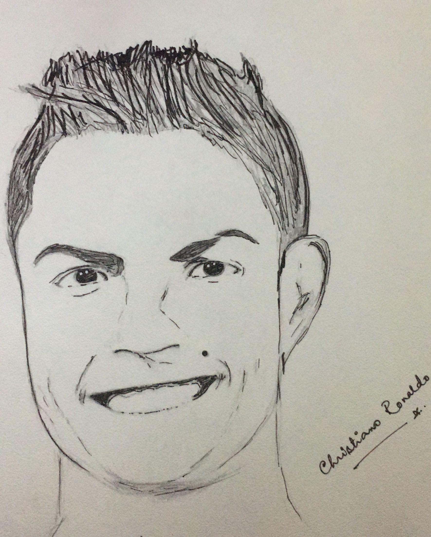 Christiano ronaldo sketch by swarnima drawing😘👌🏻👌🏻