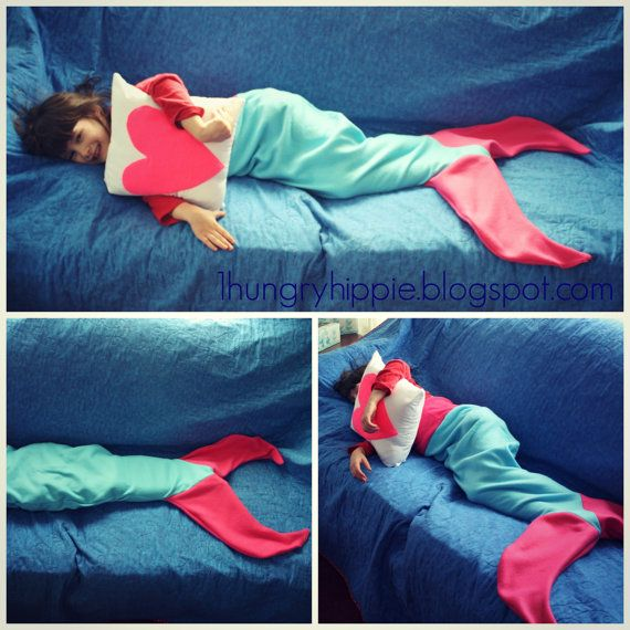 Mermaid Tail Blanket for kids sizes 4-8 PDF von hungryhippie ...