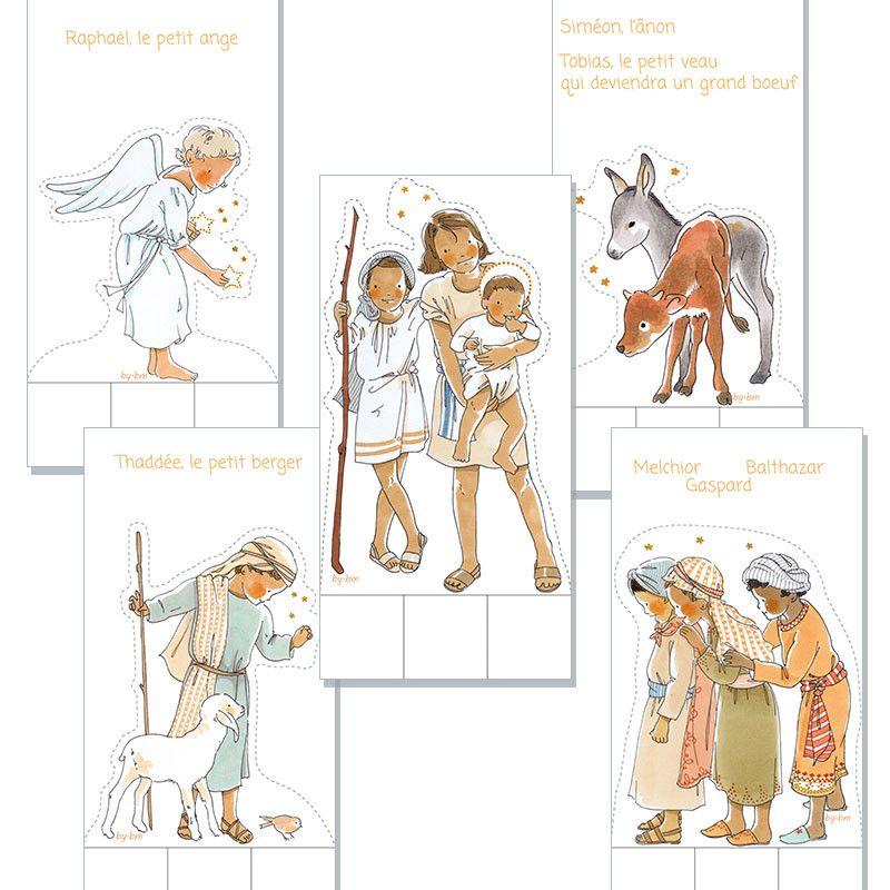 7 BLANC 6*4*15//6*6*10//5*3*3 cm Prozellan 6ce074 Clayre /& FED crèches personnages