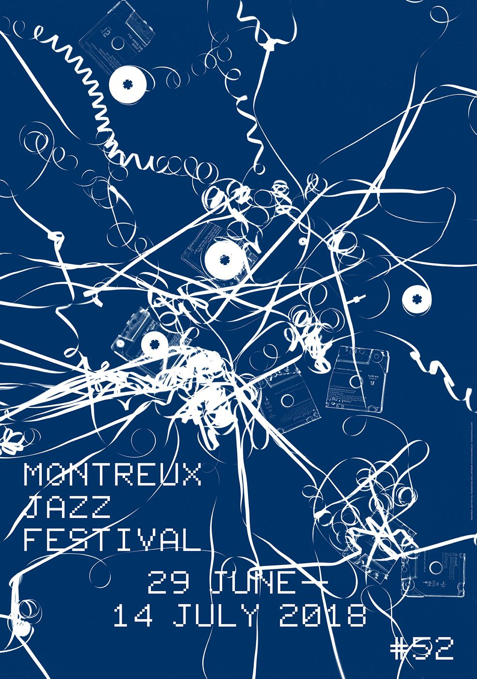 © Montreux Jazz Festival 2018 / Artwork Christian Marclay / Design Laurent Benner