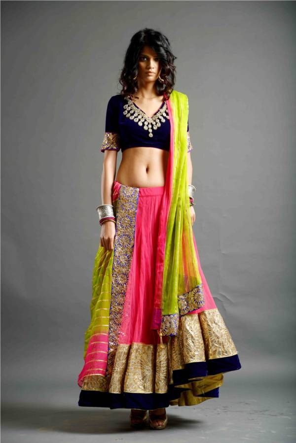 Neon colors indian dresses