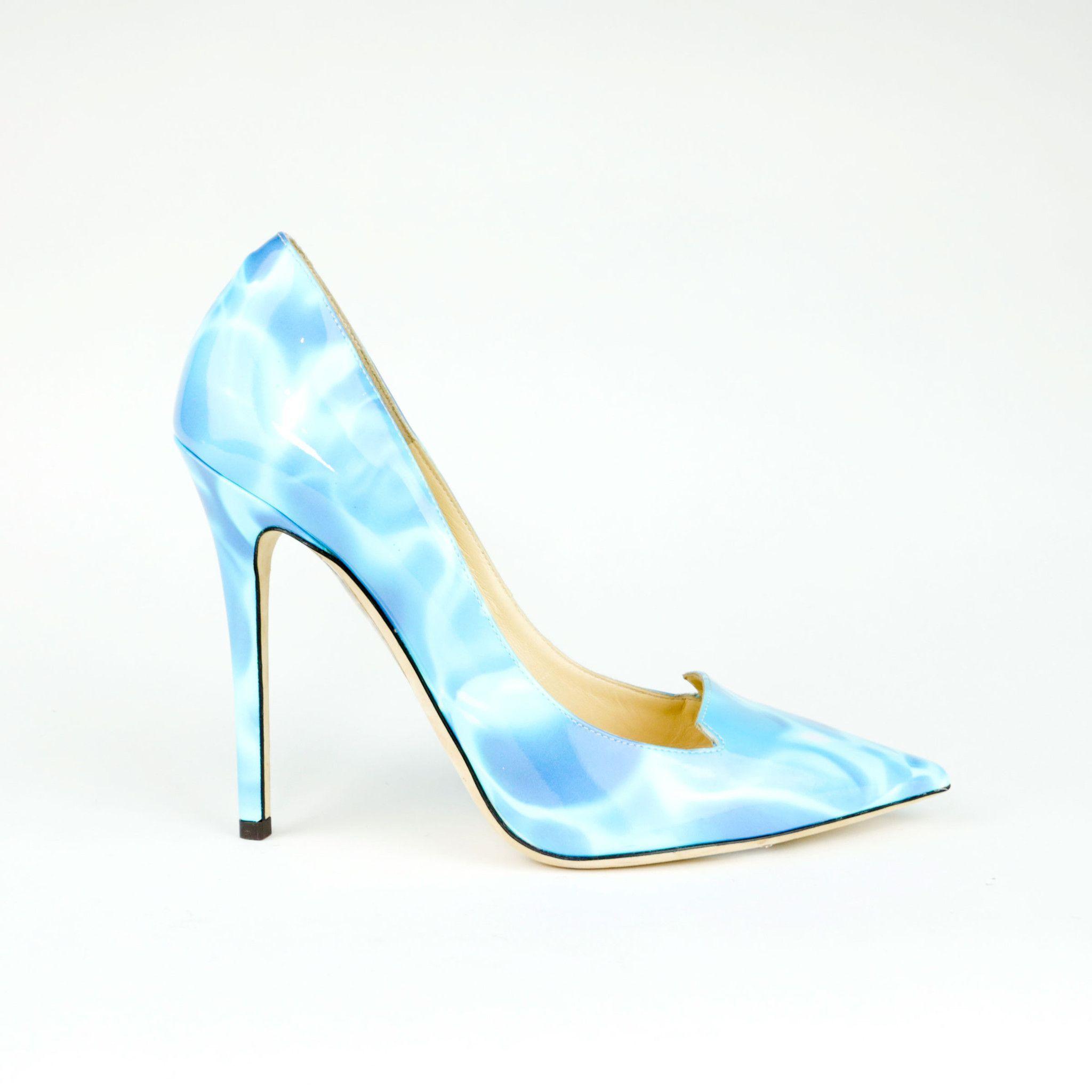 50f2cb8a008 Jimmy Choo Blue  Water  Heel Pump