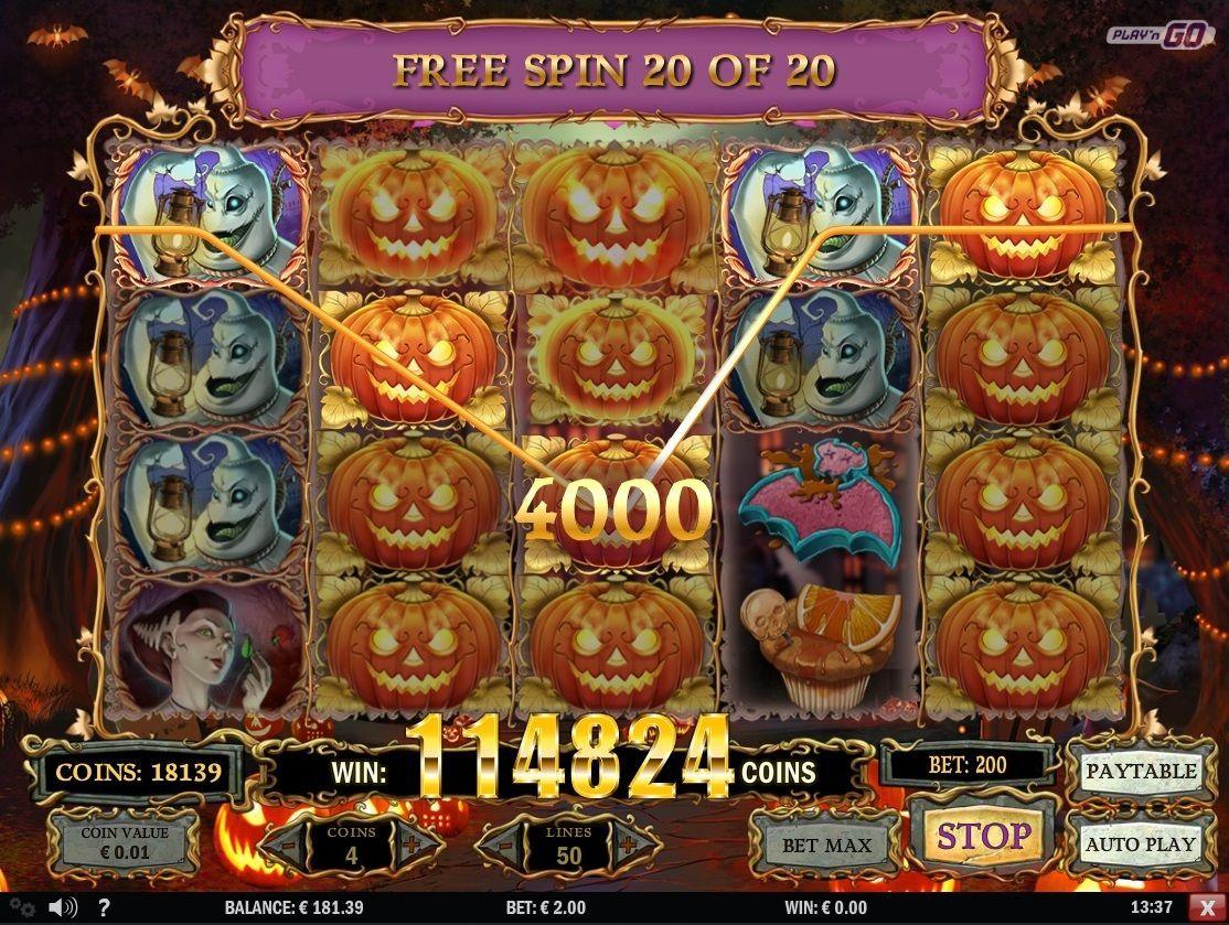 574 times bet, Happy Halloween, Play'n Go
