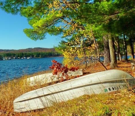 Autumn Lakeside Milton Nh New Hampshire Lakeside Lake