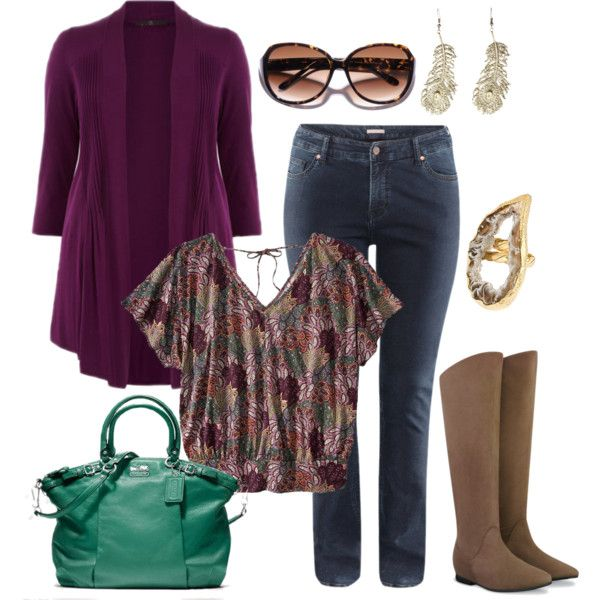 """""""Easy Fall - Plus Size"""" by alexawebb on Polyvore"""
