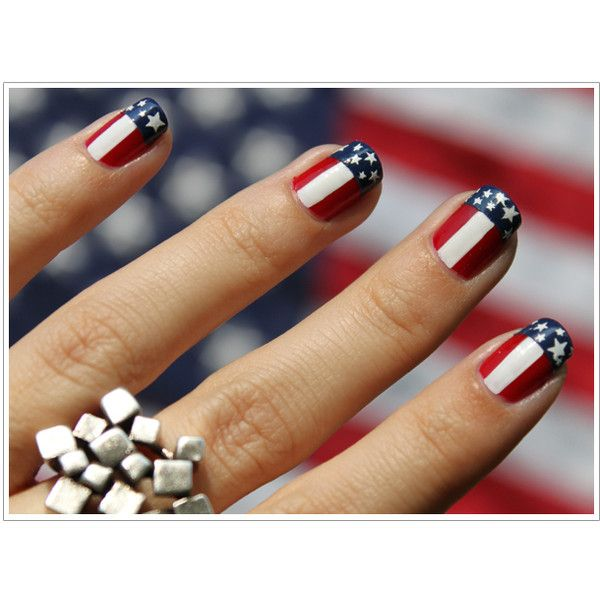 july 4th nails | nail art | Pinterest | Texas nails, Makeup and Nail ...