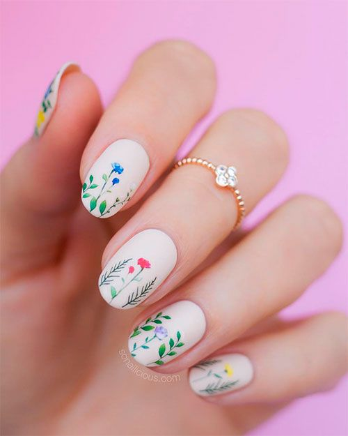 Best Nails Ideas For Spring 2019 Floral Nails Floral Nail