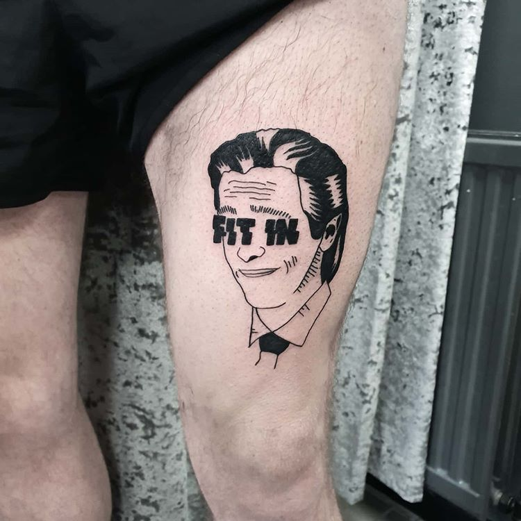 Hannaeyetattoo On Instagram American Pyscho S Patrick Bateman For Chris Tonight Thanks Mate Had Real Fun Drawing And In 2020 Tattoos American Pyscho Cool Drawings