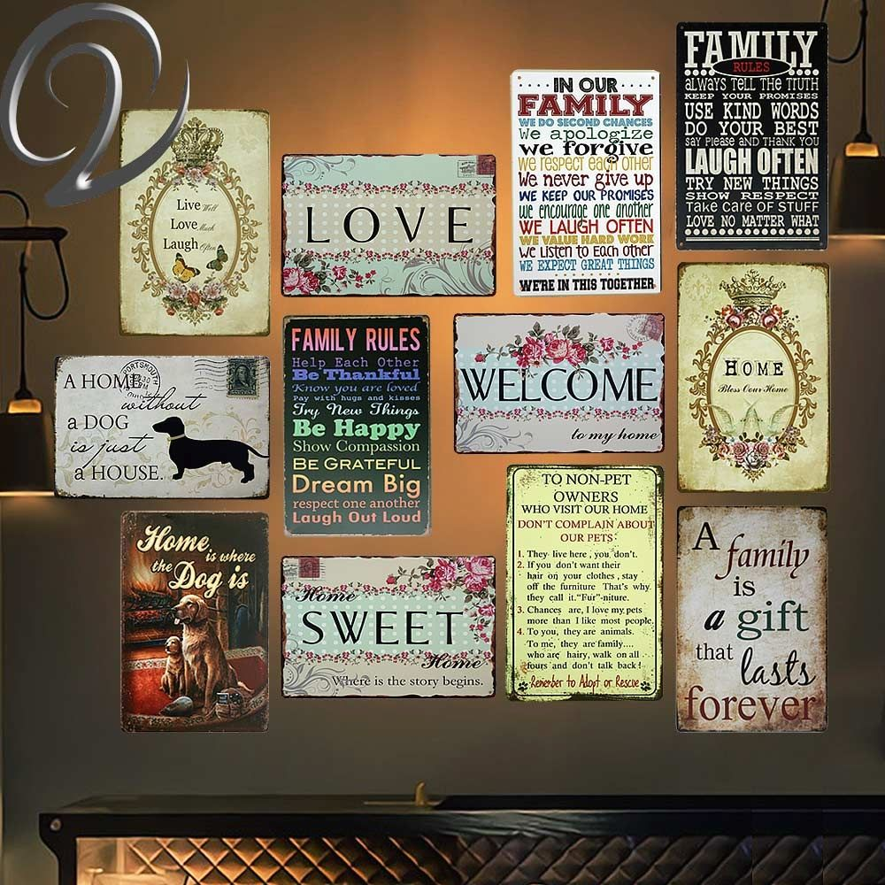 Metal Tin Sign Forget the Dog Plaque Retro Plate Iron Door Wall Hanging