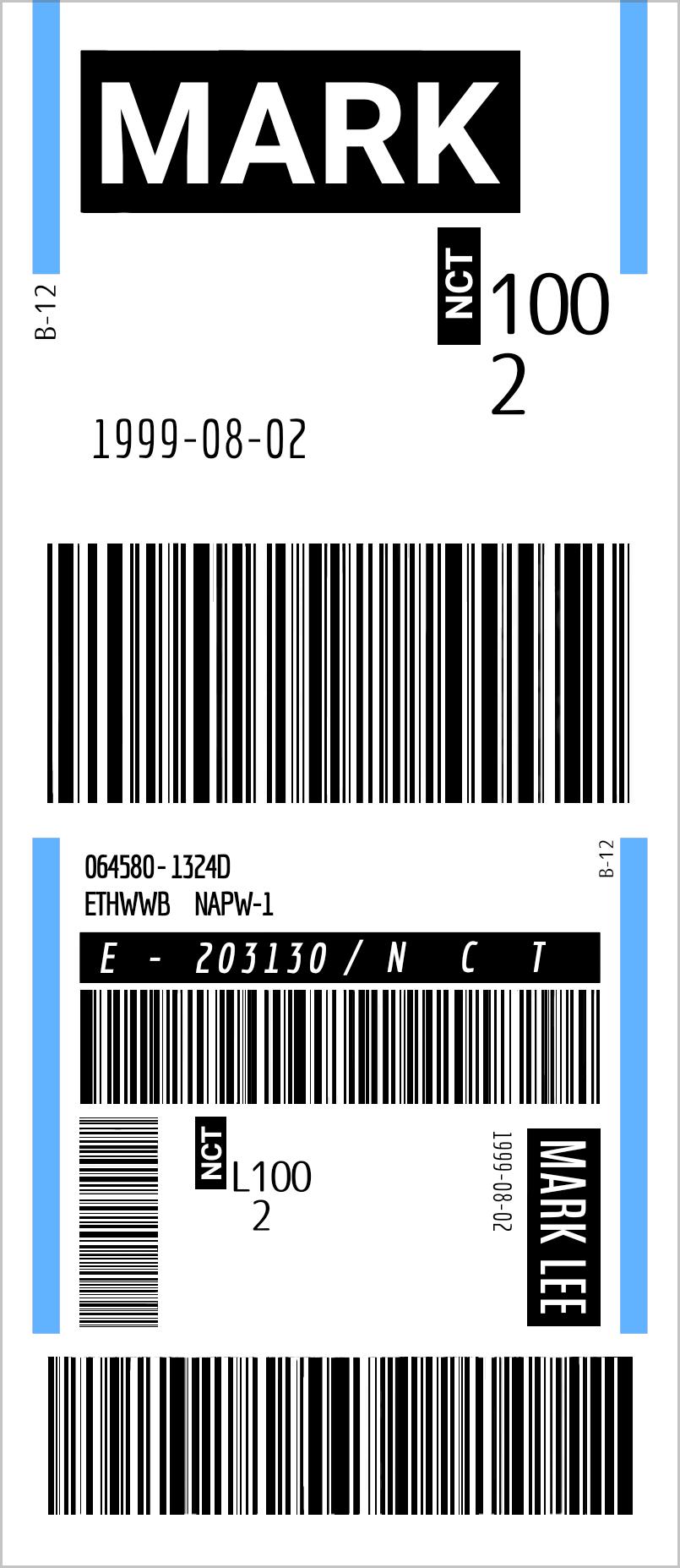 Nct Mark Ticket Nct Desain Tiket
