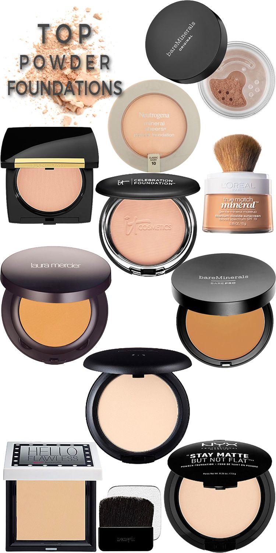 Top 10 Powder Foundations Powder foundation, Smokey eye