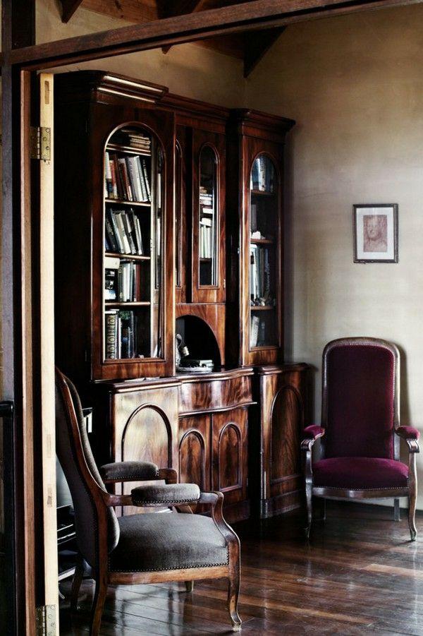 wohnung design ideen französischer stil bibliothek einrichten - franzosischen stil interieur ideen
