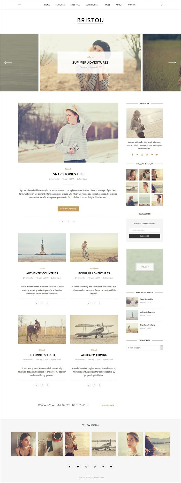 Bristou is a clean and modern design responsive #WordPress #blogs theme to tell your story in #creative and stylish website with 5 unique homepage layouts download now➩ https://themeforest.net/item/bristou-wordpress-theme-for-modern-bloggers/19430692?ref=Datasata