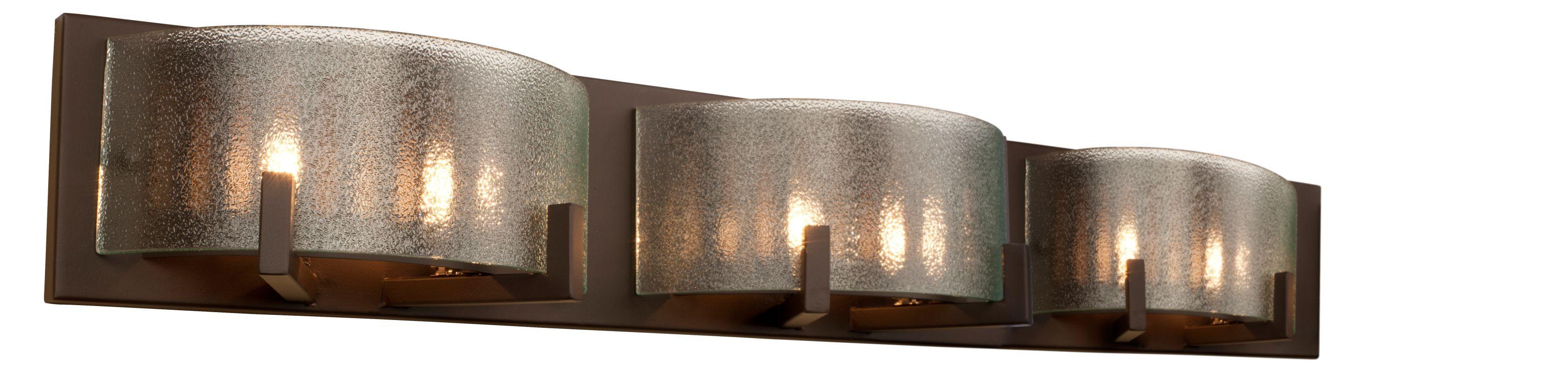 Alternating Current AC Firefly Industrial Bronze Light - Six light bathroom vanity light