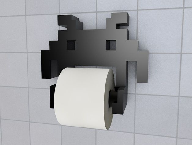 This is a new Design based on FMMT666 Invader Toilet Holder I did a