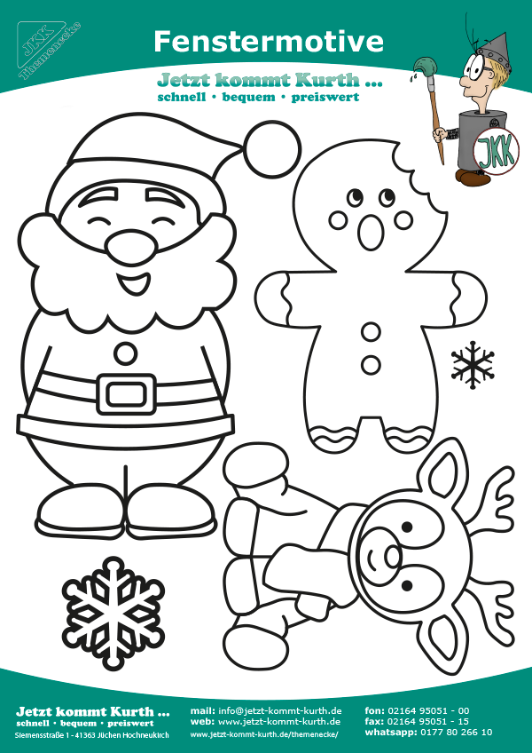 Malvorlage Fenstermotive Weihnachten 02   Malvorlagen ...