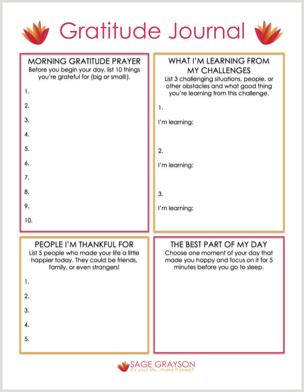 I LOVE GRATITUDE! and this worksheet has a section ...