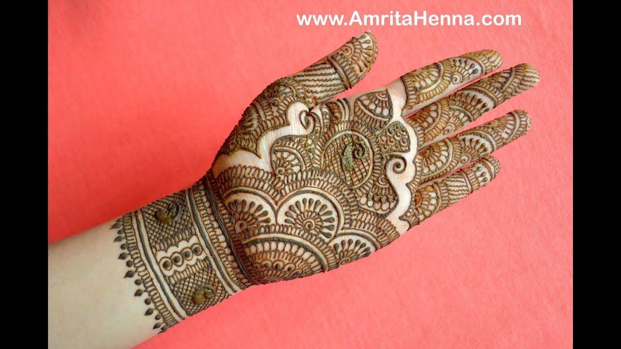 Mehndi Diya Design : Modern style henna mehndi designs for front hand cute simple