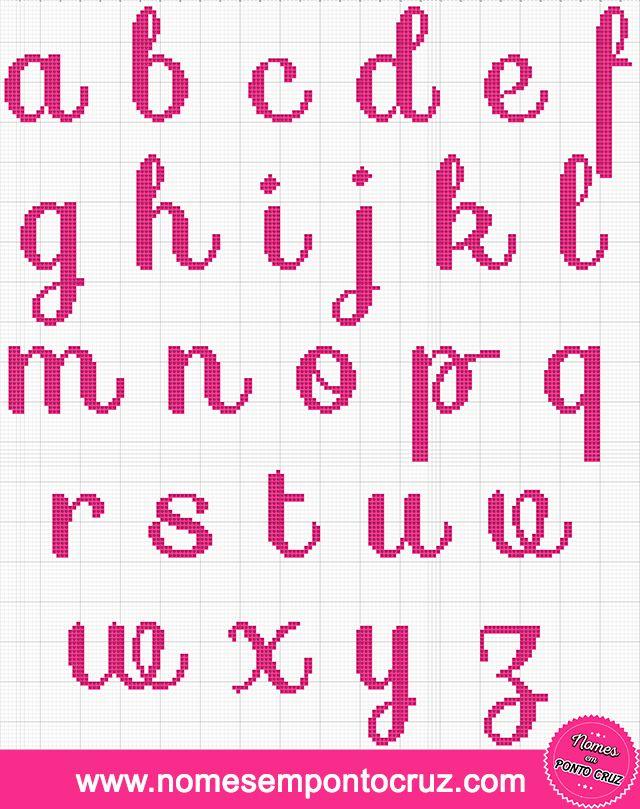 Alfabeto Em Ponto Cruz Minusculo 01 Com Imagens Alfabeto